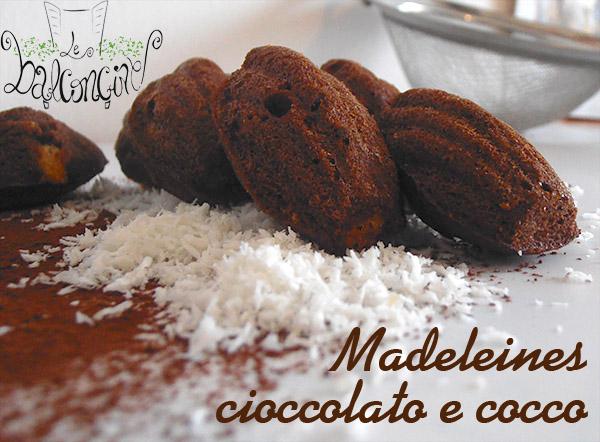 Madeleines cioccolato e cocco 3