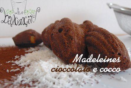 Ricetta delle Madeleines cioccolato e cocco