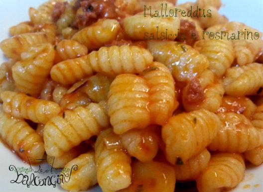 Malloreddus salsiccia e rosmarino