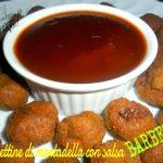 Polpettine di mortadella con salsa barbecue