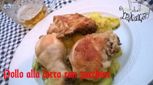 Pollo alla birra e zucchine