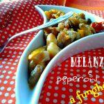 Melanzane e peperoni a funghetto