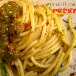 Vermicelli pesto e peperoni