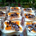 Bicchierini di Panna cotta senza lattosio caramel 'n chok