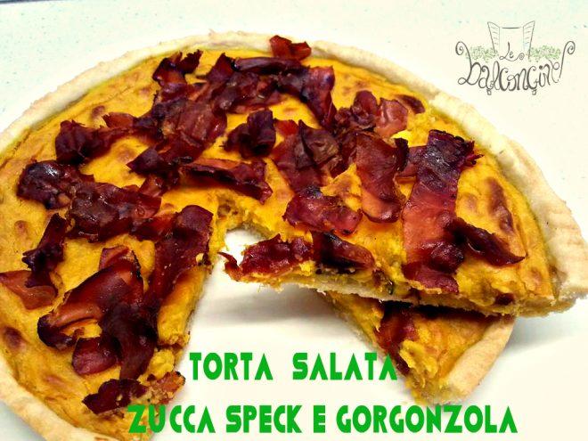 torta zucca, speck e gorgonzola