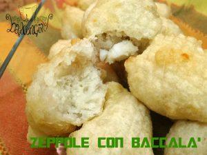 zeppole con baccalà