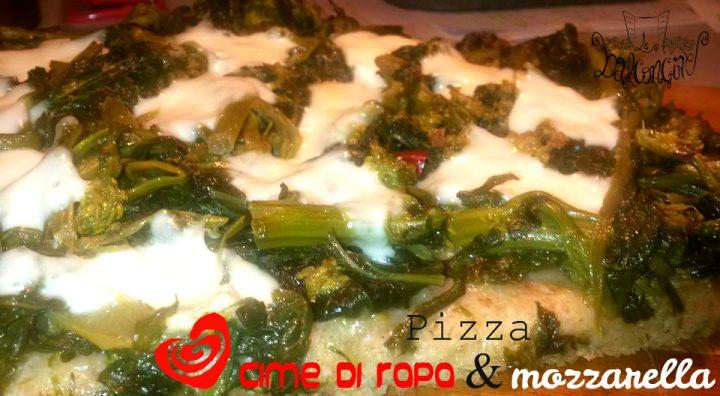 pizza cime di rapa e mozzarella