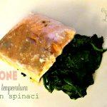 Salmone e spinaci con cottura a bassa temperatura