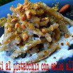 Strozzapreti al pistacchio con salsa alle mandorle