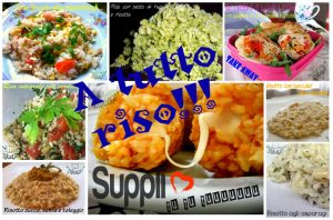 Raccolta di ricette con il riso