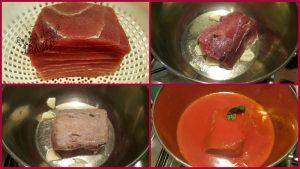 pasta con ragù di tonno rosso di mazzara