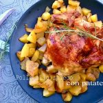 Pollo arrosto croccante con le patate