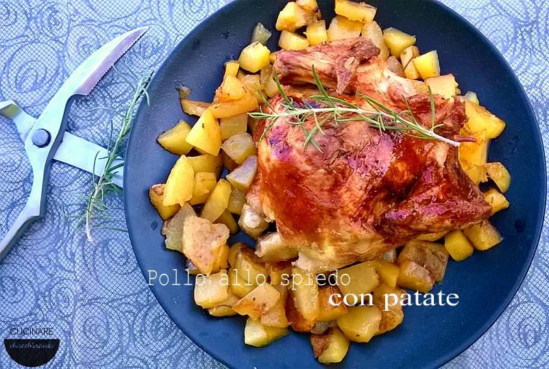 pollo al forno con le patate