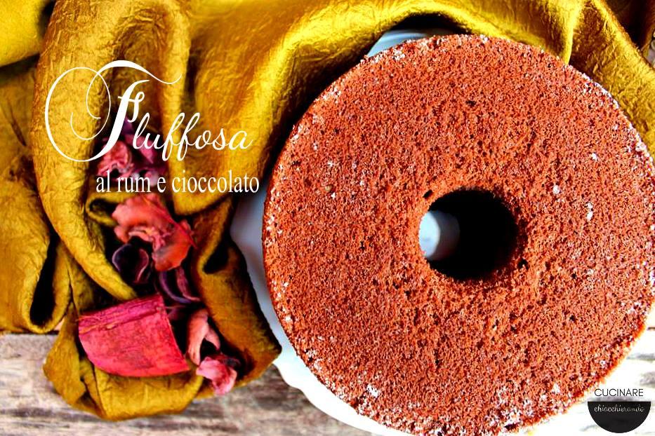 fluffosa al cioccolato e rhum