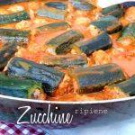 zucchine ripiene di carne alla romana