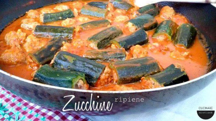 zucchine ripiene in padella