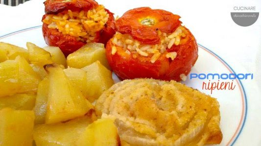 pomodori col riso al forno