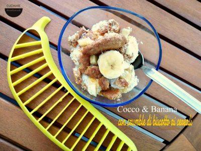 dolce con banane mature