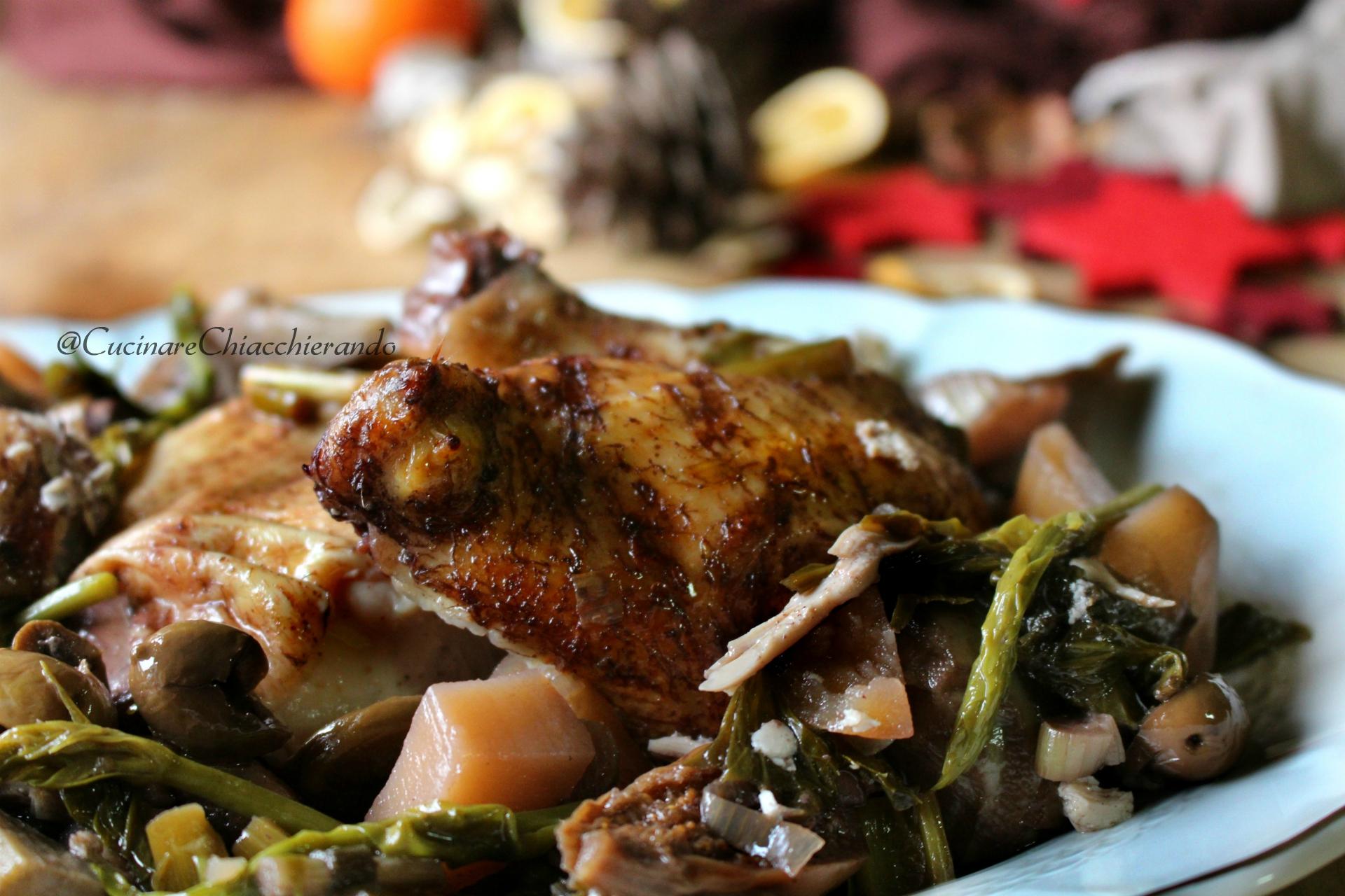 pollo con le verdurein pentola