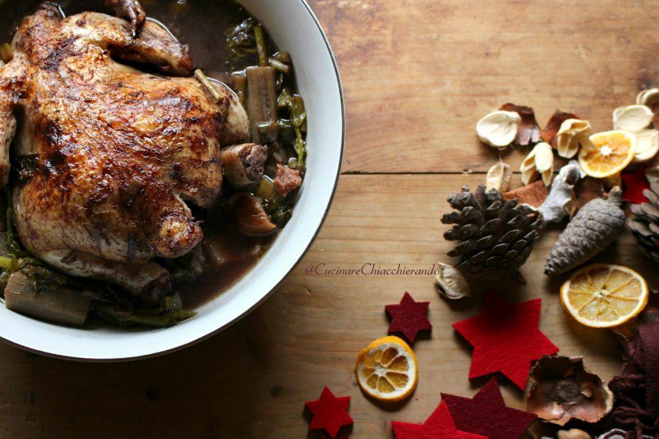 pollo brasato con le verdure