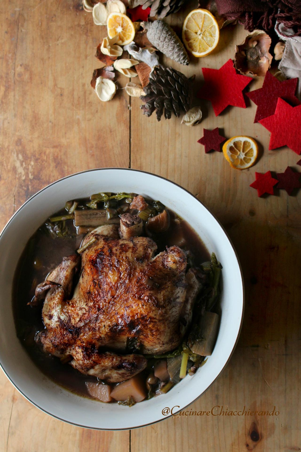 pollo per natle con le verdure
