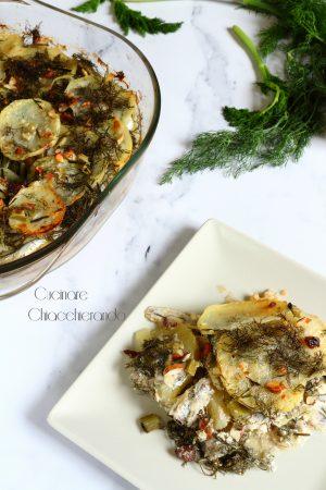 tortino di alici e patate alla siciliana
