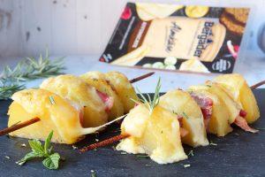 spiedini di patate e pancetta