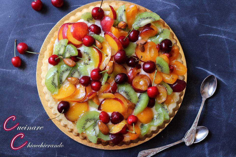 torta alla frutta fresca con crema al limone senza cottura