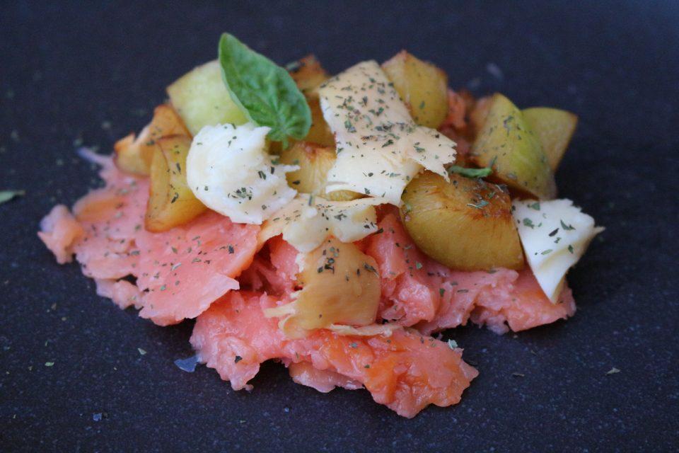 salmone e scamorza
