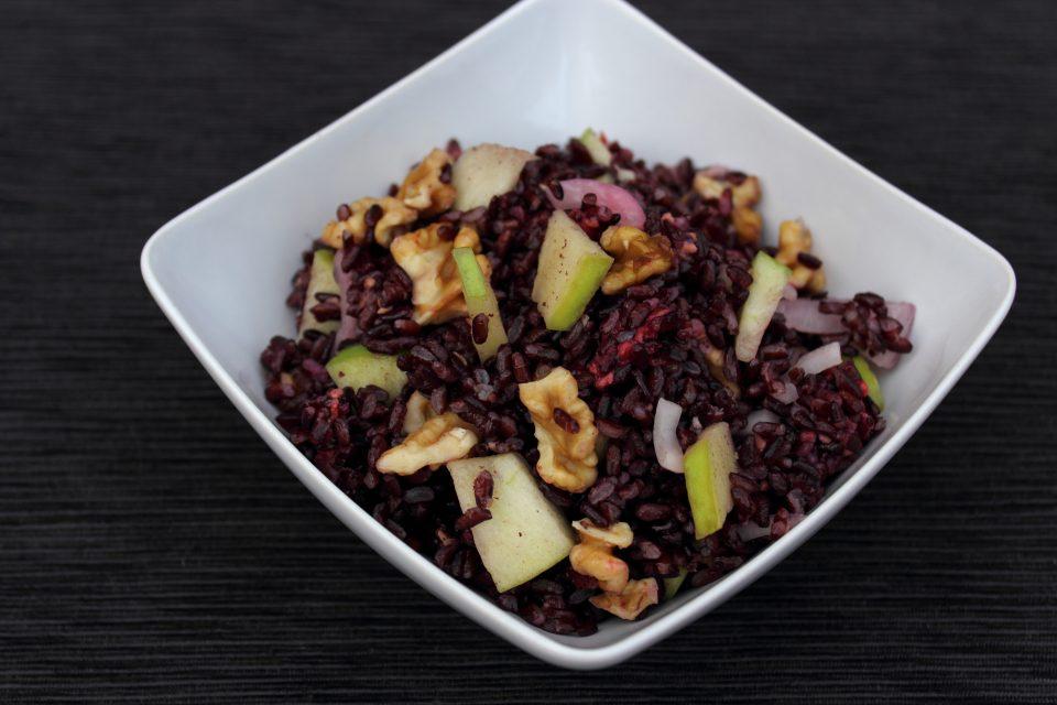 riso venere fruttato con verdure