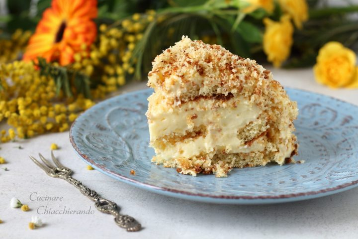 Torta mimosa crema bianca